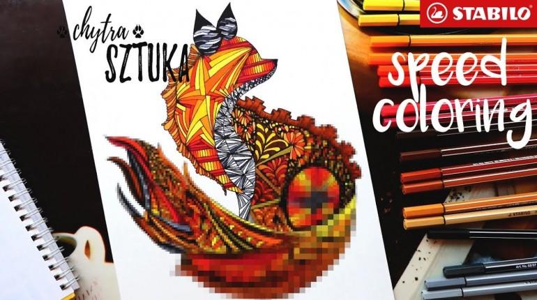 Kolorowanka od Chytrej Sztuki (speed coloring #1)