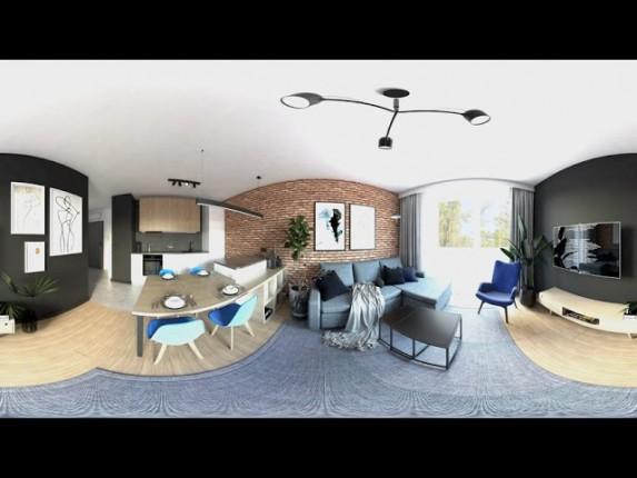 Projekt salonu nowoczesnego w wirtualnej rzeczywistości