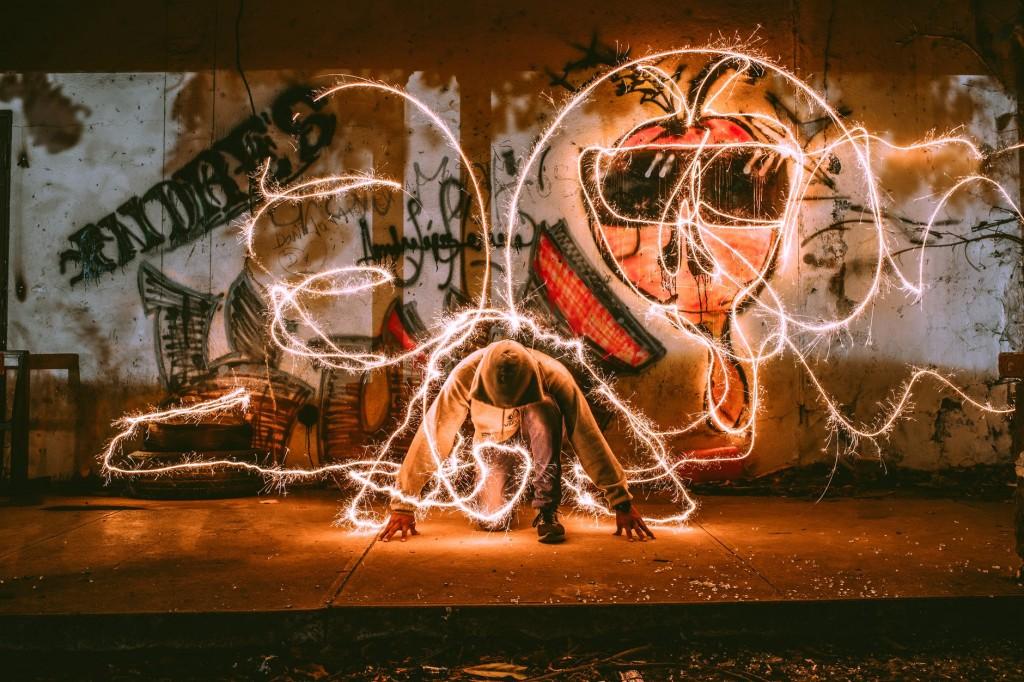 kreatywne zdjęcia nocą