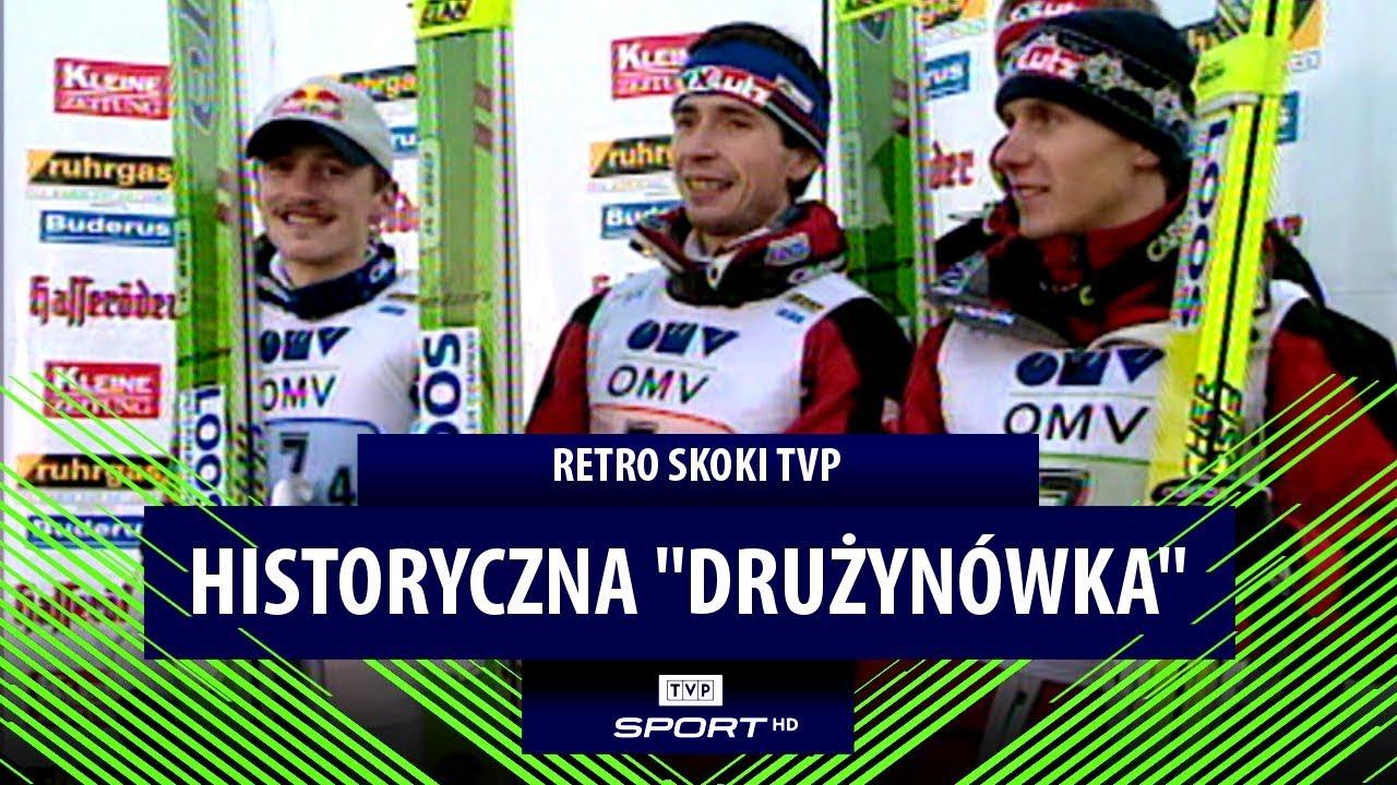 Historyczne podium Polaków w Villach! Zobacz skok Adama Małysza | LINK DO CAŁOŚCI W KOMENTARZU