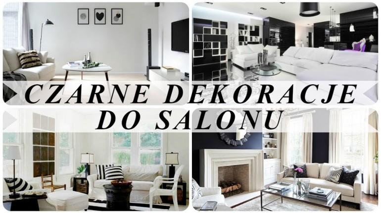Pomysły na nowoczesny salon biało czarny