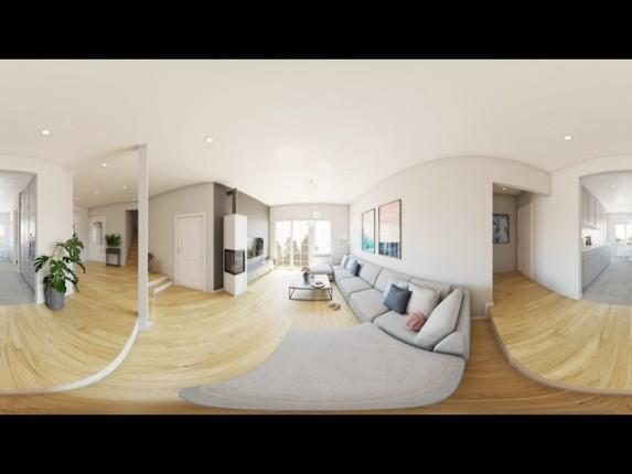 projekt wnętrz salonu w stylu nowoczesnym